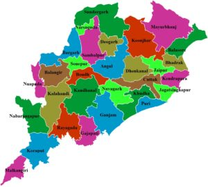 Orissa Odisha State Map And Districts Map Dhanvi Services Dhanviservices
