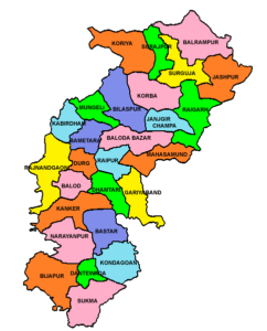 Chhattisgarh State Map And Districts Map Dhanviservices Dhanvi Services