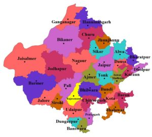 Rajasthan State Map And Districts Map Dhanviservices Dhanvi Services