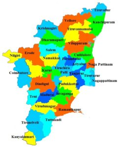 Tamil Nadu State Map And Districts Map Dhanviservices Dhanvi Services