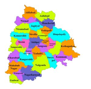 Telangana Map And Districts Map Dhanviservices Dhanvi Services