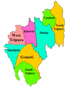 Tripura State Map And Districts Map Dhanviservices Dhanvi Services