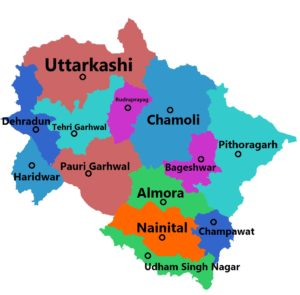 Uttarakhand State Map And Districts Map Dhanviservices Dhanvi Services