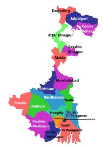 West Bengal State Map And Districts Map Dhanviservices Dhanvi Services