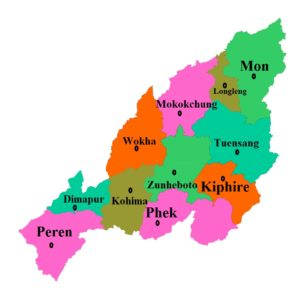 Nagaland State Map And Districts Map Dhanviservices Dhanvi Services