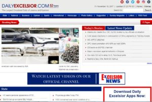 Daily Excelsior News Website Dhanviservices Dhanvis Services