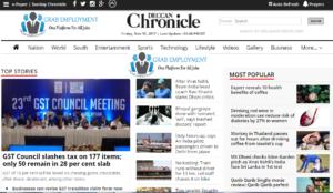 Deccan Chronicle Dhanviservices Dhanvi Services