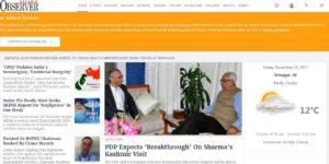 Kashmir Observer News Website Dhanviservices Dhanvi Services