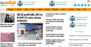 Live Mint News Website Dhanviservices Dhanvi Services