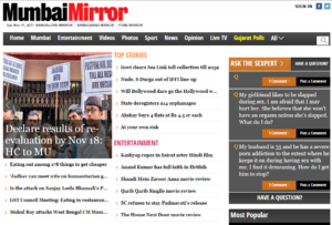 Mumbai Mirror News Website Dhanviservices Dhanvi Services
