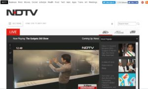 NDTV News Website Dhanvi Services Dhanviservices