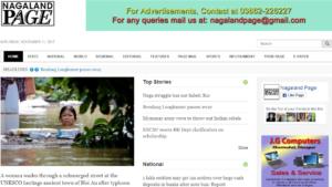 Nagaland Page News Website Dhanvi Services Dhanviservices