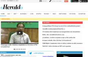 O Heraldo News Website Dhanvi Services Dhanviservices