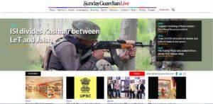 Sunday Guardian News Website Dhanviservices Dhanvi Services