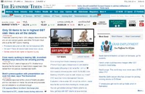 The Economic Times News Website Dhanviservices Dhanvi Services