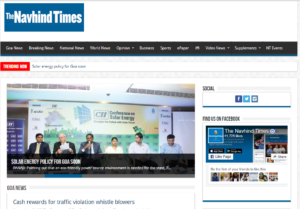 The Navhind Times News Website Dhanvi Services Dhanviservices