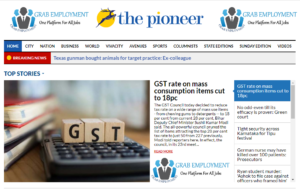 The Pioneer News Website Dhanviservices Dhanvi Services